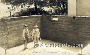 Masons House Foundation Real Photo People Working Postcard Post Card, Old Vin...