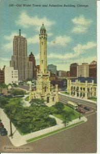 Old Water Tower And Palmolive Building, Chicago