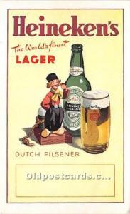 Advertising Postcard - Old Vintage Antique Dutch Pilsener Heineken's Lager