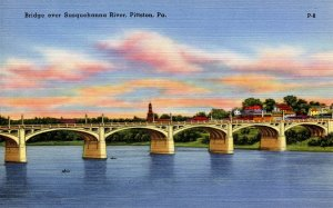PA - Pittston. Bridge Over Susquehanna River