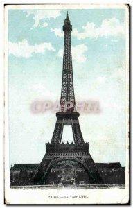 Old Postcard Paris Eiffel Tower