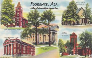 FLORENCE, Alabama; City of Beautiful Churches, 30-40s