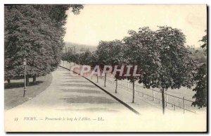 Old Postcard Vichy Walk along the & # 39Allier