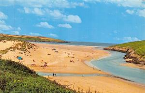 Vintage Postcard CORNWALL The Beach, Crantock by NPO #B7129