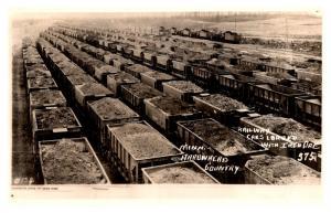 Minnesota Arrowhead , Mammoth Mine Ore Cars filled Iron ore  , RPC