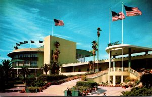 California Inglewood Hollywood Park Race Track Entrance and Grandstand