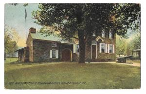 Valley Forge PA General Washingtons Headquaarters Postcard Flag Cancel 1909