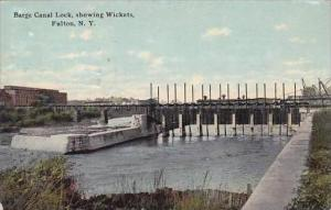 New York Fulton Barge Canal Lock Showing Wickets