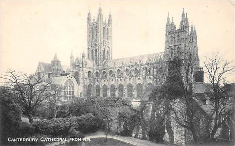 Canterbury Cathedral From NW. - UK