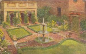 The Loggia & Enchanted Garden , Edgar Allan Poe Shrine , RICHMOND , Virginia ...