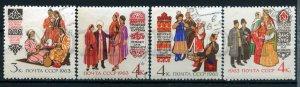 506204 USSR 1963 costumes Turkmens Azerbaijanis Tajiks Kyrgyz