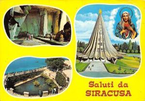 Italy Saluti da Siracusa, Grotta dei Cordari, Fontana Aretusa, Santuario Madonna