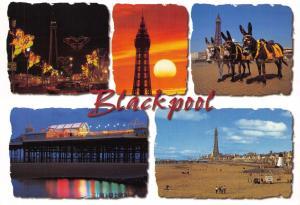 Postcard BLACKPOOL Multiview Lancashire D41