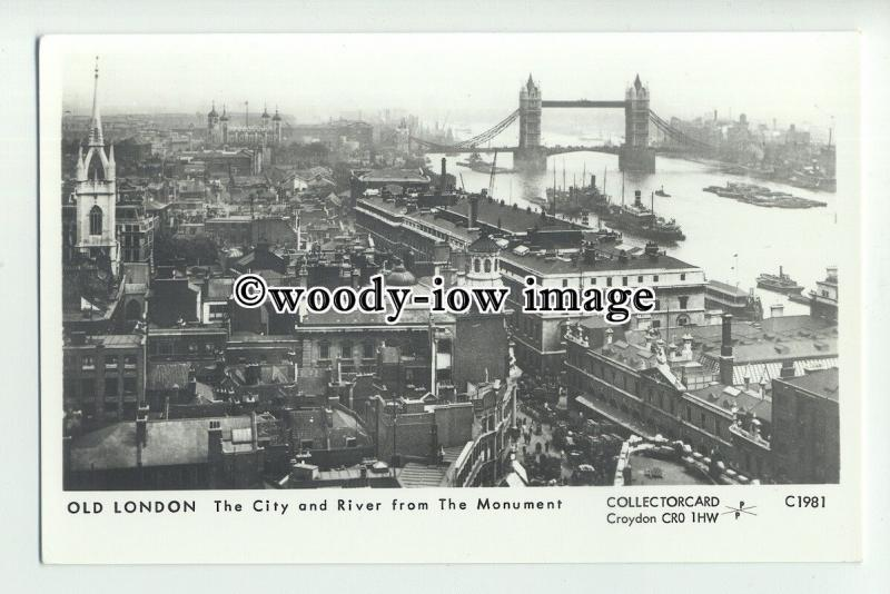 pp2201 - London - View across City & Thames from the Monument - Pamlin postcard
