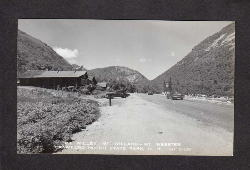 NH Mt Willey Willard Webster Crawford Notch New Hampshire Real Photo RPPC