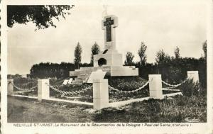 france, NEUVILLE-St. VAAST, Monument of the Resurrection of Poland (1953) WWI