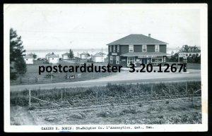 1267 - ST. SULPICE Quebec 1948 Cabins. Gas Pumps. Coca-Cola. Real Photo Postcard
