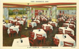 Bamboo Inn Lum's  Chicago Illinois Chinese Restaurant 1940s Postcard Teich 2048