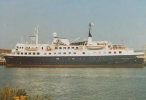 MS Polaris at Newhaven Ferry Postcard