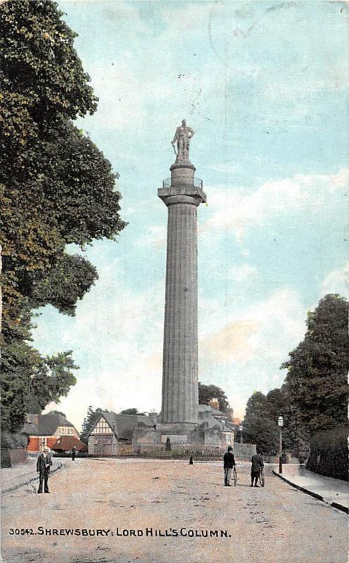 Shrewsbury, Lord Hill's Column Monument, Exclusive Photo Color Series 1910