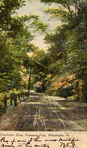 PA - Philadelphia. Wissahickon Drive in Fairmount Park