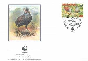 WWF FDC Postcard Tonga Niuafo'ou Malau Megapode