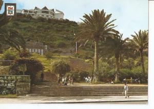 Postal 042418 : Las Palmas de Gran Canaria. Jardines Doramas y Estatua Leon y...