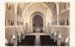 Mankato Minnesota~Notre Dame Sisters~Good Counsel Chapel Interior~1925 RPPC
