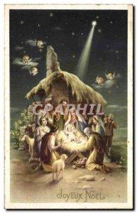 Old Postcard Fantasy Christmas Jesus