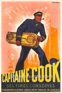 Advertising Postcard - Old Vintage Antique  Capitaine Cook