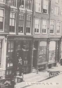 Waterlooplein Apotheer Shop 111 113 115 in 1901 Postcard