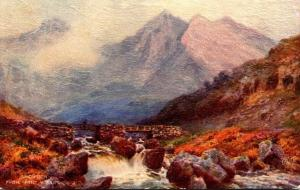 Tucks Picturesque Wales Series Snowdon From Pont-y-Garth 1939
