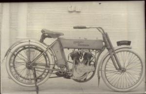 Harley Davidson Motorcycle 1909 REPRINT REPRO Real Photo Postcard