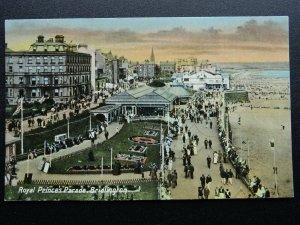 Yorkshire BRIDLINGTON Royal Prince's Parade - Old Postcard by G.W. Wardley