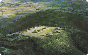 Mexico Oaxaca Air View Monte Alban Archaeological Zone