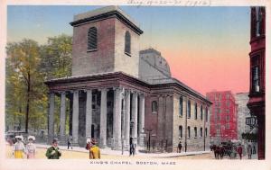 King's Chapel, Boston, Massachusetts, early postcard, unused