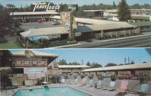 BAKERSFIELD, California, 1940-1960's; Valley Travelodge, Swimming Pool