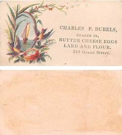 Approx Size Inches = 1.75 x 3.50 Butter Cheese Eggs Tradecard