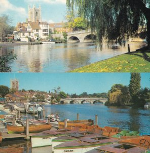 Snowdrop Boat at Henley On Thames Canal 2x 1970s Postcard s