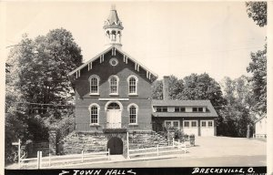 G68/ Brecksville Ohio RPPC Postcard c1950s Town Hall Building  9