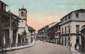 A Street in COLON, Panama Canal, 1900-10s