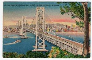 San Francisco - Oakland Bay Bridge And San Francisco, California