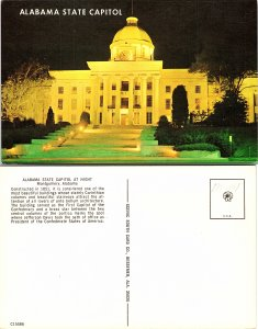 Alabama State Capitol at Night Montgomery, Alabama