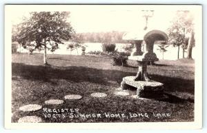 Postcard MN Long Lake Register Vogt's Summer Home RPPC Real Photo E04
