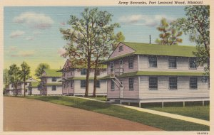 Army Barracks , FORT LEONARD WOOD , Missouri , 1930-40s
