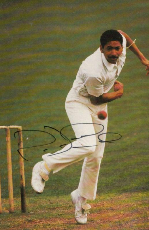 Philip De Freitas Leicester Cricket Hand Signed Limited Edition Photo Postcard
