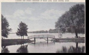 Minnesota Sauk Centre Lagoon & Picnic Grounds At Sauk Lake