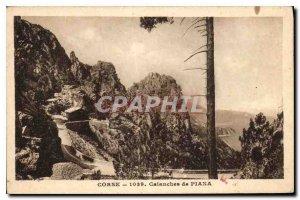 Old Postcard Corsica Creeks of Piana
