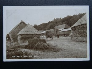 Surrey South Croydon BALLARD'S FARM Farm Yard & Hay Wagon Farming Old Postcard
