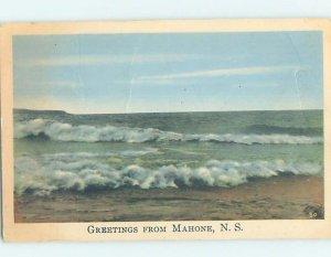 1930's SHORELINE Mahone Bay - Near Lunenburg & Bridgewater Nova Scotia NS AD5562